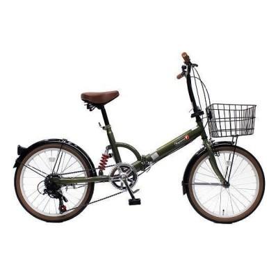 TOP ONE FS206LL-37-OL オリーブ [折りたたみ自転車(20インチ・6段変速)] 折りたたみ自転車・ミニベロ