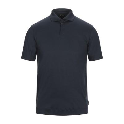 ZZEGNA ポロシャツ ダークブルー S コットン 100% ポロシャツ