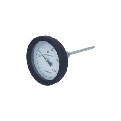 バイメタル式温度計 佐藤計量器製作所 BM-T-100P 0:100℃ 150L(2080-16) 100150