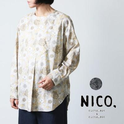 【30% OFF】nicholson and nicholson (ニコルソンアンドニコルソン) リバティプリントノーカラーシャツ