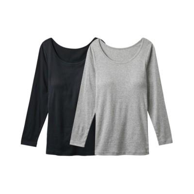 【WEB限定】綿100%ソフトカップ付長袖インナー2枚組(3L) (七分・長袖インナー)Underwear
