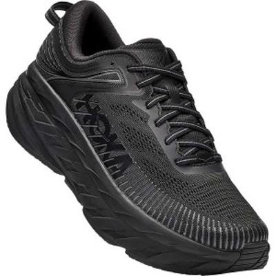 ホッカオネオネ メンズ スニーカー シューズ Hoka One One Men's Bondi 7 Shoe Black / Black