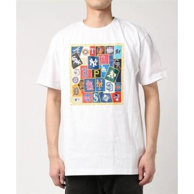 tシャツ Tシャツ MLB チームロゴステッカーTシャツ