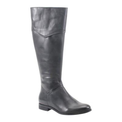 ディバトゥルー ブーツ&レインブーツ シューズ レディース Poppy Seed Knee High Boot (Women's) Black Leather