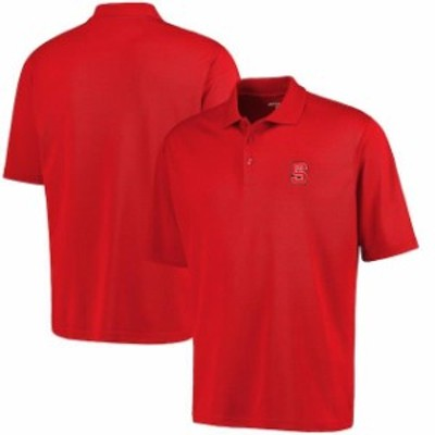 Antigua アンティグア スポーツ用品  Antigua NC State Wolfpack Red Logo Grande Pique Polo