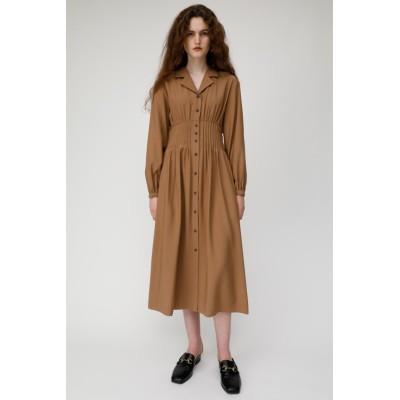 OPEN COLLAR WAIST TUCK ドレス