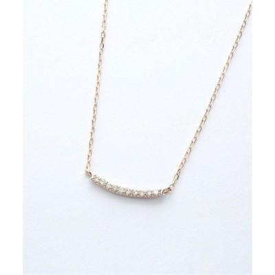 ネックレス K10 マイクロセッティング ダイヤモンド ネックレス