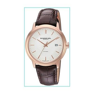 [レイモンド・ウィル] Raymond Weil 腕時計 Men's 'Maestro' Swiss Stainless Steel and Leather Automatic Watch, Color:Brown スイ