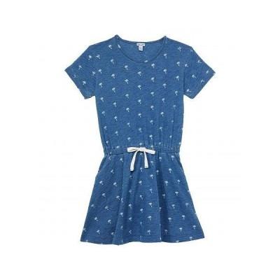 Splendid Littles スプレンデッド 女の子用 ファッション 子供服 ドレス Palm Ditsy Print Dress (Toddler/Little Kids) - Indigo