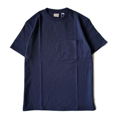 Good wear グッドウェア 無地 胸ポケ Tシャツ 紺 2W7-2500 肉厚 USAコットン 7.0oz