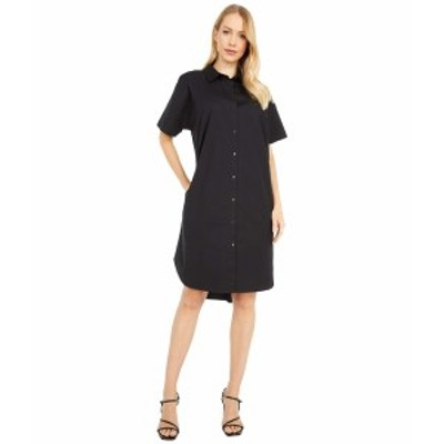 エイリーンフィッシャー レディース ワンピース トップス Classic Collar Dress Black