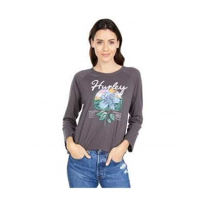 Hurley ハーレー レディース 女性用 ファッション Tシャツ Leila 3/4 Sleeve Raglan - Thunder Grey