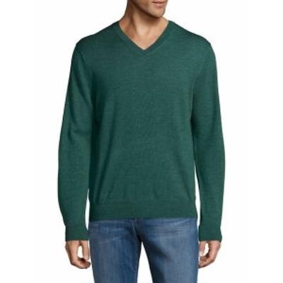 サックスフィフスアベニュー Men Clothing V-Neck Wool Sweater