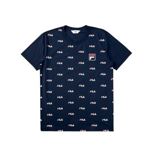 FILA 圓領T恤(合身版)-丈青 1TEV-1516-NV