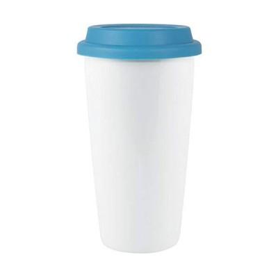 Custom 16 oz Terra- Terra (White with Aqua lid) - 72 PCS - $7.79/EA - Promotional Product with Your Logo/Bulk/Wholesale【並行輸入品】