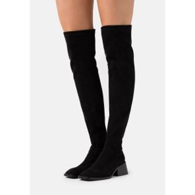ジェフリー キャンベル レディース ブーツ&レインブーツ シューズ PATRIK  - Over-the-knee boots - black black