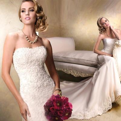 ウェディングドレス マーメイドライン ウエディングドレス 安い 花嫁 ロングドレス 披露宴 マーメイドドレス 二次会 結婚式 バックレス レトロドレス wedding