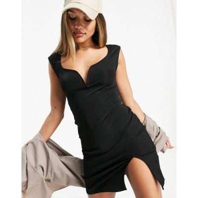 アイビーレベル レディース ワンピース トップス Ivyrevel cap sleeve mini dress in black