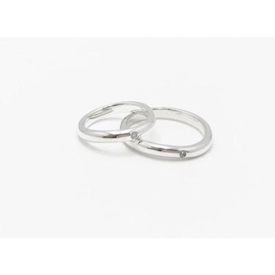 送料込み 14サイズから選べる シンプルなので飽きがこない 結婚指輪 プレゼントにも喜ばれます シルバーリング ペアリング 指輪 リング ジルコニア