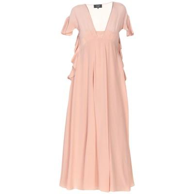 ロシャス ROCHAS 7分丈ワンピース・ドレス ローズピンク 40 シルク 100% 7分丈ワンピース・ドレス