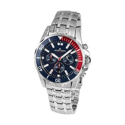 Jacques Lemans Men's Analogue Automatic Watch with Stainless Steel Strap 1-1907ZF 並行輸入品