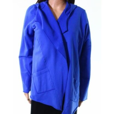 One  ファッション 衣類 Fenini NEW Royal Blue Womens Size Small S Hooded One Button Jacket