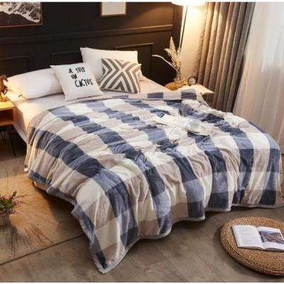 ★新品高品質★毛布 ブランケット ダブル オールシーズン 暖かい 寝具 吸湿発熱 軽量ランキング 洗える 柔らかい180cm*200cm防臭チェック柄