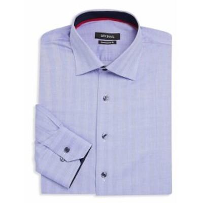 レビナス Men Clothing Contemporary-Fit Herringbone Cotton Dress Shirt