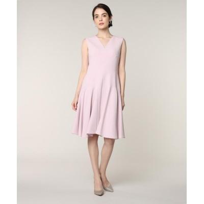 (ef-de/エフデ)《M Maglie le cassetto》Vネック切り替えドレス/レディース ピンク1