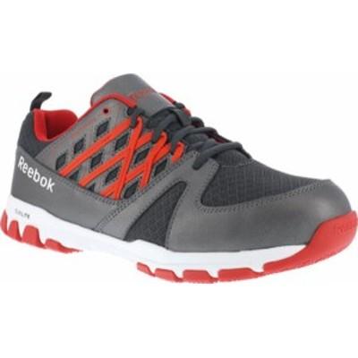リーボック メンズ スニーカー シューズ Men's Reebok Work Sublite Work RB4005 Steel Toe Sneaker Grey/Red