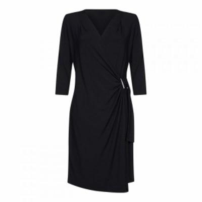 ユミ Yumi レディース ワンピース ラップドレス ワンピース・ドレス Slinky Wrap Dress Black