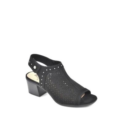 ホワイトマウンテン レディース サンダル シューズ Life Saver Block Heel Sandal BLACK/SUEDETTE