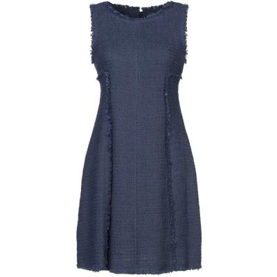 SANDRO FERRONE ミニワンピース&ドレス ブルーグレー 48 コットン 80% / レーヨン 20% ミニワンピース&ドレス