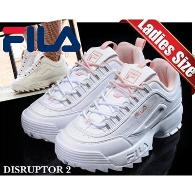 フィラ ディスラプター2 レディース FILA DISRUPTOR 2 white/pink FS1HTA1074X-WPK スニーカー ホワイト ピンク DAD SHOES レディース ウィメンズ