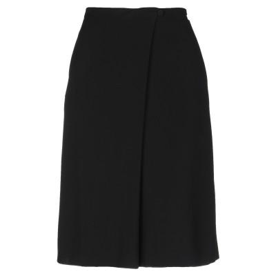 アルマーニ コレッツィオーニ ARMANI COLLEZIONI 7分丈スカート ブラック 38 レーヨン 98% / ナイロン 2% 7分丈スカート