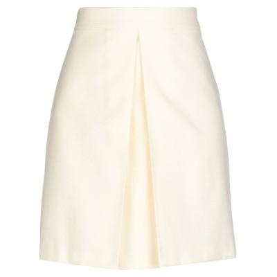 マウロ グリフォーニ MAURO GRIFONI ひざ丈スカート アイボリー 38 ポリエステル 55% / コットン 45% ひざ丈スカート