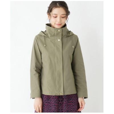 【大きいサイズあり・13号・15号】ワッシャーフード付きジャケット