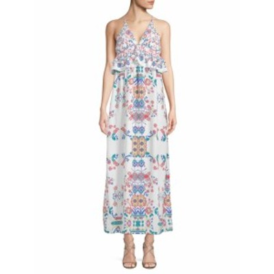ファースト サイト レディース ワンピース Ruffle-Trimmed Maxi Dress