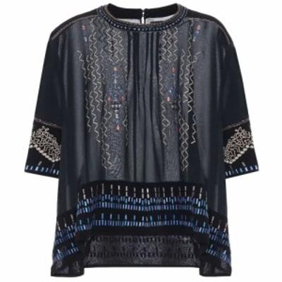 イザベル マラン Isabel Marant レディース ブラウス・シャツ トップス cerza embroidered silk blouse Black