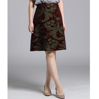 スカート レオパードジャガードスカート