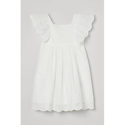 H&M - イギリス刺繍ディテールワンピース - ホワイト