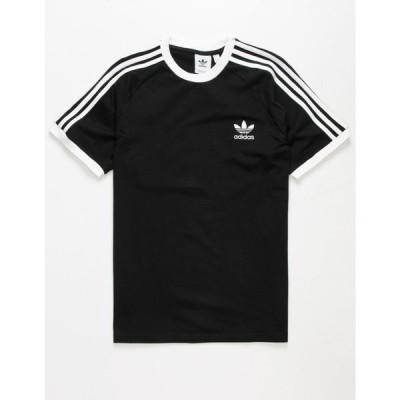 アディダス ADIDAS メンズ Tシャツ トップス Classics 3-Stripes T-Shirt BLACK