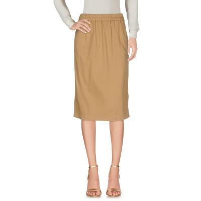 ピンコ PINKO ひざ丈スカート キャメル 38 98% コットン 2% ポリウレタン ひざ丈スカート