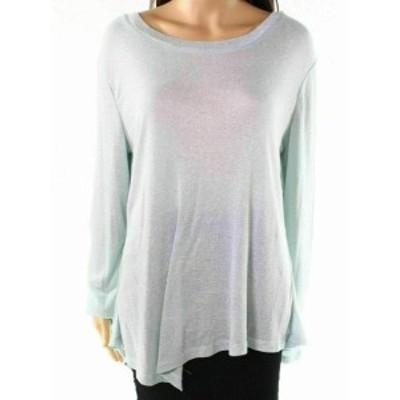 ファッション トップス New Direction NEW Gray Womens Size Medium M Shimmer Asymmetric Blouse