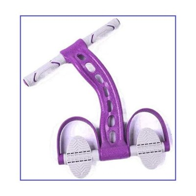 Aoyo Sit-ups Auxiliary Equipment Home Fitness Thin Stomach Pedal Rally Yoga Female Curling Elastic Rope (Color : Purple)