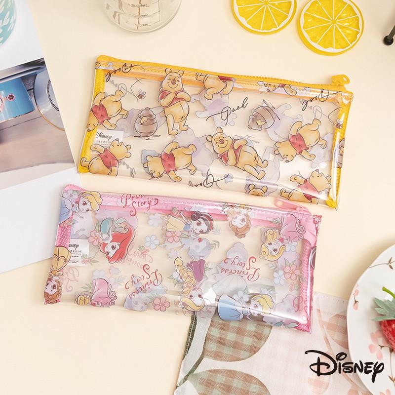 迪士尼 文具旗艦店 透明 餐具包 奇奇蒂蒂 維尼 玩具總動員 史迪奇 小飛象 瑪麗貓 公主 筆袋 萬用包 CA631