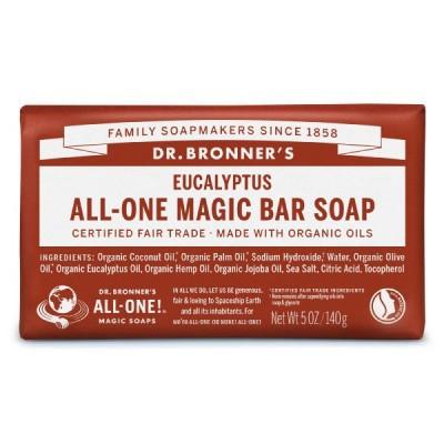 ネイチャーズウェイドクターブロナー マジックソープバー(magic soap) 石鹸 ユーカリ 140g ナチュラルソープ