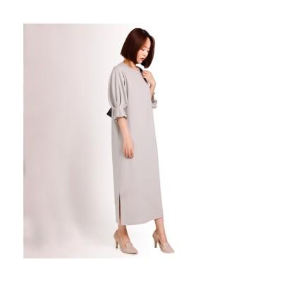 MARTHA(マーサ) タックスリーブロングワンピース (ワンピース)Dress