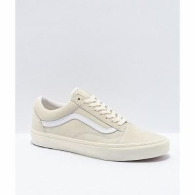 ヴァンズ VANS レディース スケートボード シューズ・靴 Vans Old Skool Pig Suede Marshmallow White Skate Shoes White