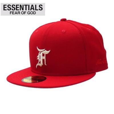 新品 エッセンシャルズ ESSENTIALS x ニューエラ NEW ERA 59FIFTY FITTED CAP キャップ RED レッド フィアオブゴッド 250000497143 ヘッドウェア